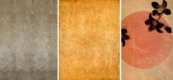 Drei reizende Hintergrundbeschaffenheiten Stockfotografie