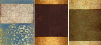 Drei reizende Hintergrundbeschaffenheiten Stockfotos