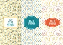Drei Retro- schicke nahtlose Muster für Einladungsdesign Lizenzfreie Stockfotografie