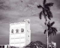 Drei Revolutionäre in altem Havana, Kuba stockfotografie