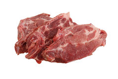 Drei rohe Steaks Lizenzfreies Stockbild