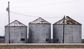 Drei Korn-Behälter Stockfotografie