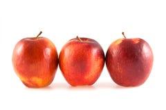 Drei rote Äpfel Lizenzfreies Stockfoto