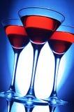 Drei rote Cocktails Stockfotos