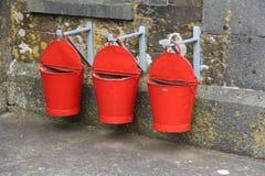 Drei rotes Feuer-Wannen Lizenzfreies Stockbild