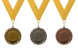 Drei runde Medaillen Lizenzfreie Stockfotografie