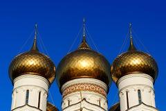 Drei russische orthodoxe Hauben Lizenzfreies Stockbild
