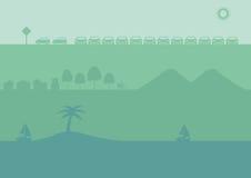 Drei Sätze Vektor-Schattenbild-Hintergrund im Grün Lizenzfreie Stockbilder