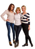 Drei schöne junge Frauen lizenzfreies stockbild