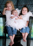 Drei schöne Schwestern Stockfotografie