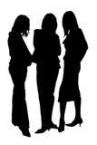 Drei Schattenbilder Lizenzfreies Stockfoto