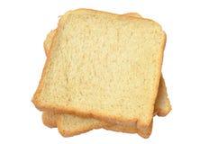 Drei Scheiben des frischen Brotes Lizenzfreie Stockfotografie