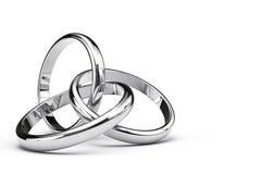 Drei schneidene Ringe Lizenzfreies Stockbild