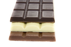 Drei Schokoladen stockfoto