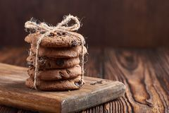 Drei Schokoladenplätzchen Lizenzfreie Stockfotografie