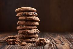 Drei Schokoladenplätzchen Stockfotos
