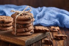 Drei Schokoladenplätzchen Lizenzfreies Stockfoto