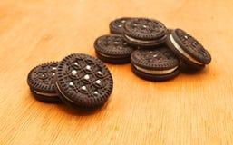 Drei Schokoladenplätzchen Lizenzfreies Stockbild