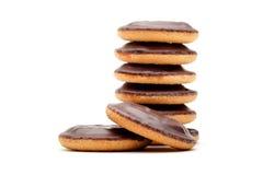 Drei Schokoladenplätzchen Lizenzfreie Stockbilder
