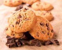 Drei Schokoladenplätzchen Lizenzfreie Stockfotos