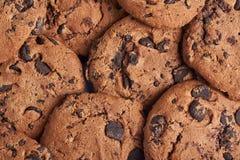 Drei Schokoladenplätzchen Abschluss oben Stockfoto