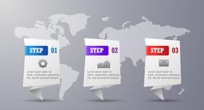 Drei Schritte infographic lizenzfreie stockfotos