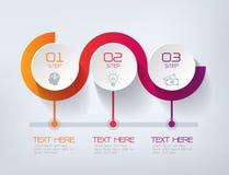 Drei Schritte Infographics, Geschäftserfolg lizenzfreie abbildung
