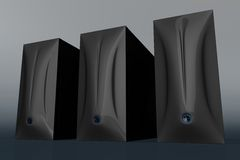 Drei schwarze Computerrechtssachen 01 vektor abbildung
