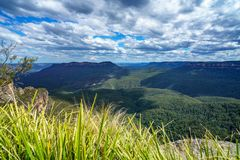Drei Schwestern im katoomba, blaue Berge, Australien 20 lizenzfreie stockfotos
