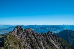 Drei Schwestern und die Schweiz, Österreich und Liechtestein Stockfotografie