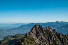 Drei Schwestern und die Schweiz, Österreich und Liechtestein Stockbilder