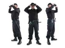 Sicherheitsbeamten Stockfotos