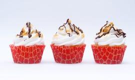 Drei smore kleine Kuchen Lizenzfreie Stockbilder