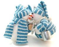 Drei snowmans Lizenzfreie Stockfotografie
