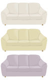 Drei Sofas in den verschiedenen Farben Lizenzfreies Stockfoto