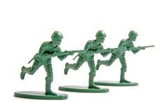 Drei Spielzeugsoldaten Lizenzfreie Stockfotografie