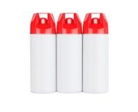Drei Spraydosen Stockbild