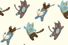 Drei springende Katzen des Spaßes Stockfotos