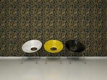 Drei Stühle Lizenzfreie Stockbilder