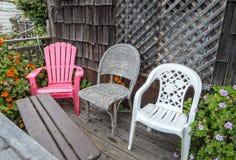 Drei Stühle Stockbild