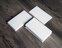 Drei Stapel Visitenkarten Stockfotografie