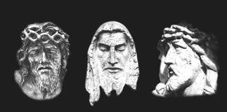 Drei Statuen Christus auf Schwarzem Lizenzfreie Stockbilder