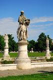 Drei Statuen in der Insel Memmia in Prato-della Valle in Padua im Venetien (Italien) Stockfoto