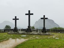 Drei Steinkreuze Lizenzfreies Stockbild