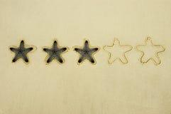 Drei Stern-Bewertung stockfoto