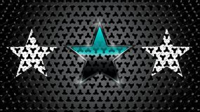 Drei Sterne und Metallplatte stock abbildung