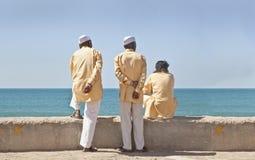 Drei stoges waitng Zeitdurchlauf Lizenzfreie Stockfotografie
