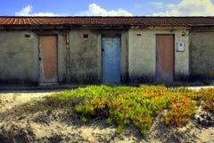 Drei Türen Stockbild