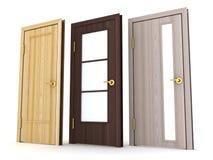 Drei Türen Stockfoto