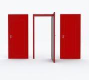 Drei Türen rot Lizenzfreies Stockfoto